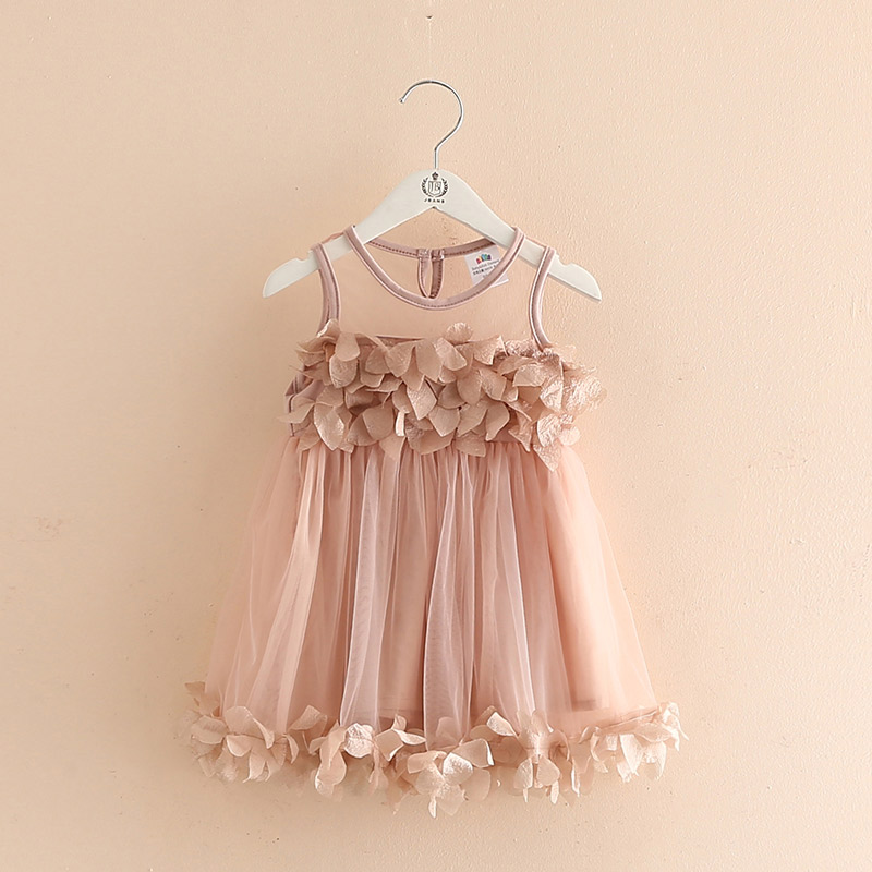 e836ea6acafbe In Stock Dusty Pink Tulle Cotton Flower Girl Dresses,Handmade Flowers,Cute  Girl Clothing,Children Clothes,Summer Dresses