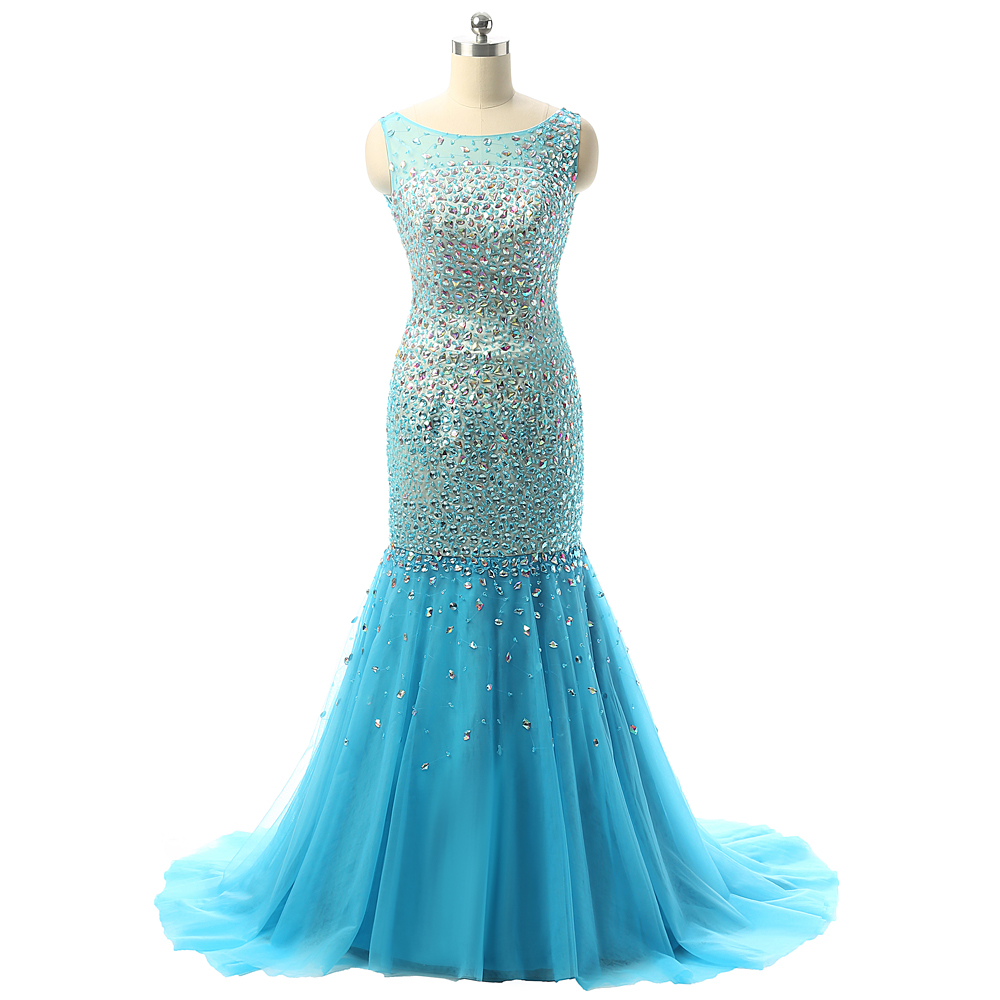 Sexy Backless Heavily Beading Rhinestones Luxury Floor Length ...